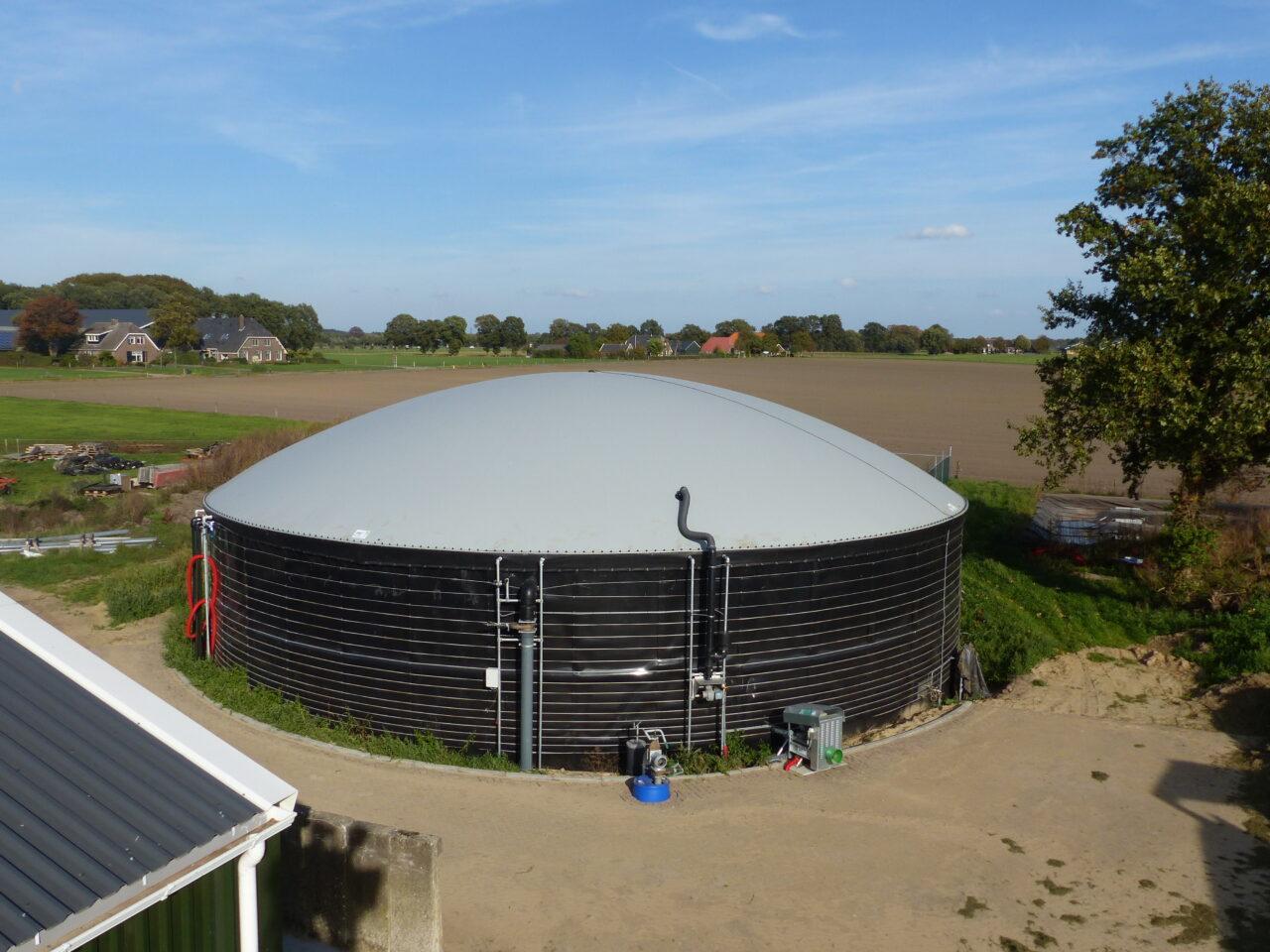 Manure fermentation on farm scale in Bathmen
