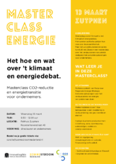 Masterclass Energie – uitnodiging