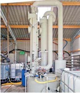 Afbeelding van een door CCS ontwikkelde stikstofstripper